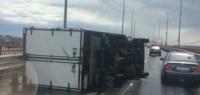 Ураган в Нижнем Новгороде сдул «ГАЗель» на Борском мосту